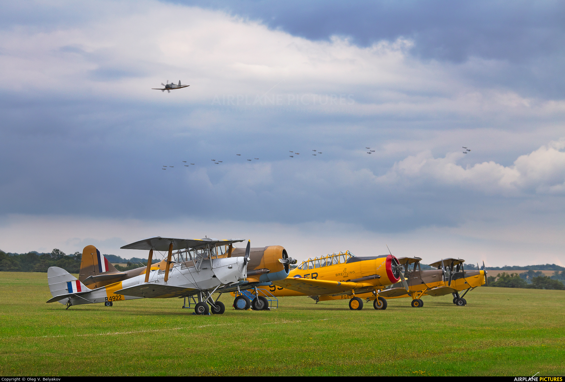 Private G-APAO aircraft at Duxford
