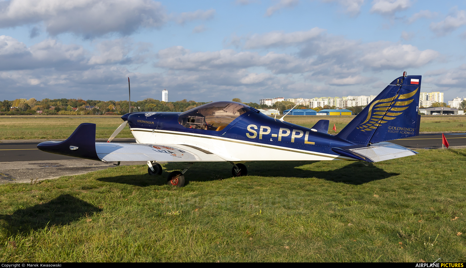 Goldwings Flight Academy SP-PPL aircraft at Warsaw - Babice