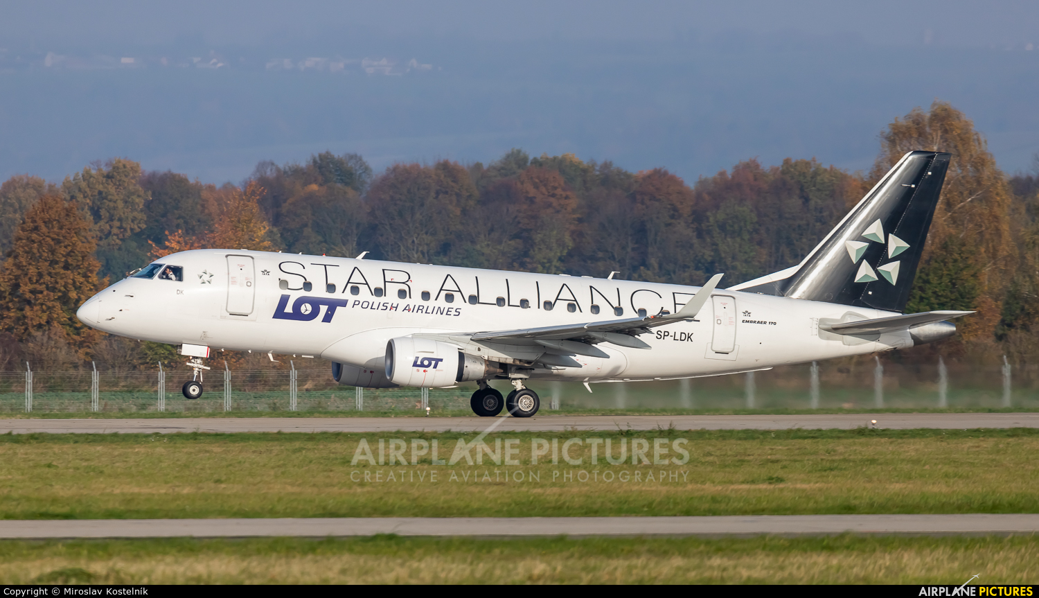 LOT - Polish Airlines SP-LDK aircraft at Ostrava Mošnov