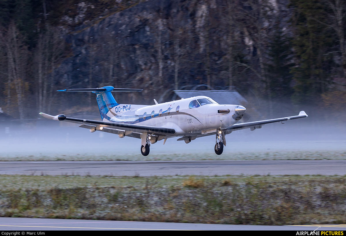 Private OO-PCJ aircraft at Saanen