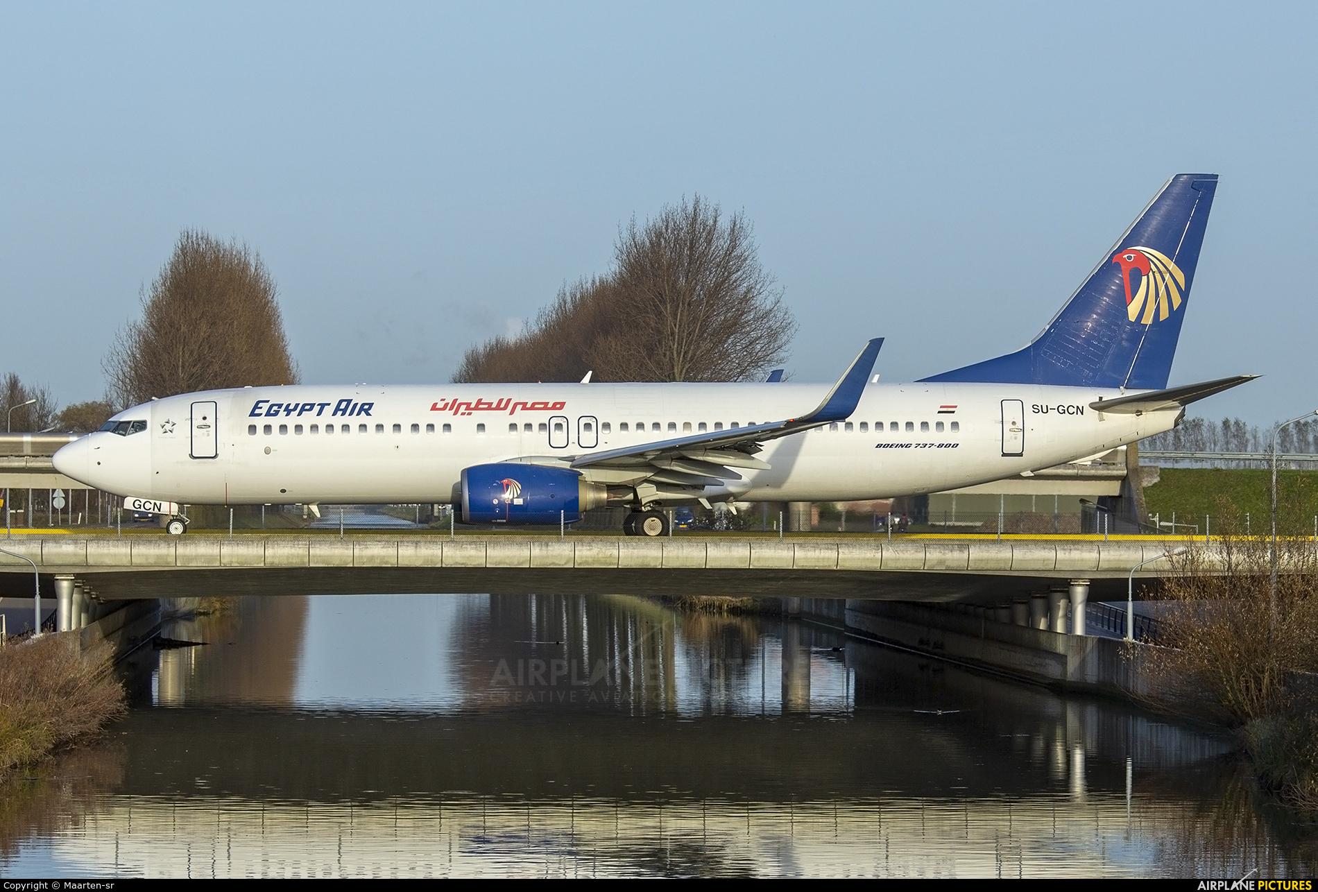 Egyptair SU-GCN aircraft at Amsterdam - Schiphol