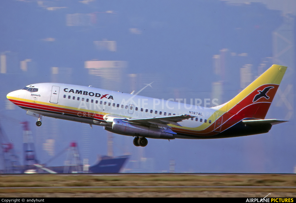 Cambodia Airlines N197AL aircraft at HKG - Kai Tak Intl CLOSED