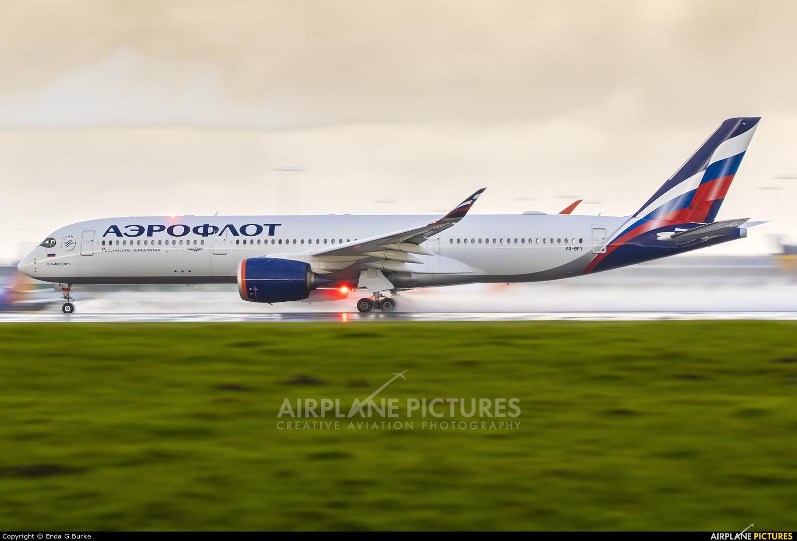 Aeroflot VQ-BFY aircraft at Manchester