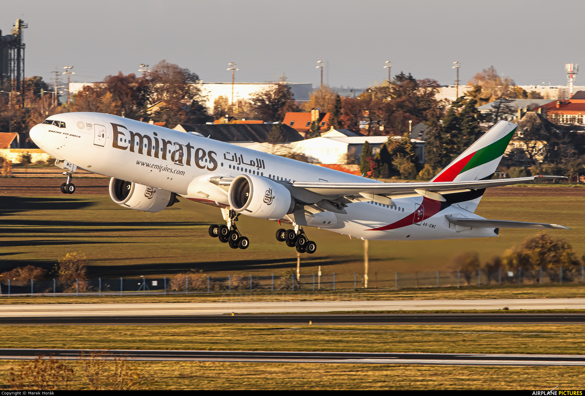 Emirates Airlines A6-EWC aircraft at Prague - Václav Havel