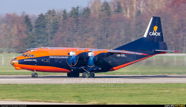 Cavok Air UR-CKL aircraft at Ostrava Mošnov