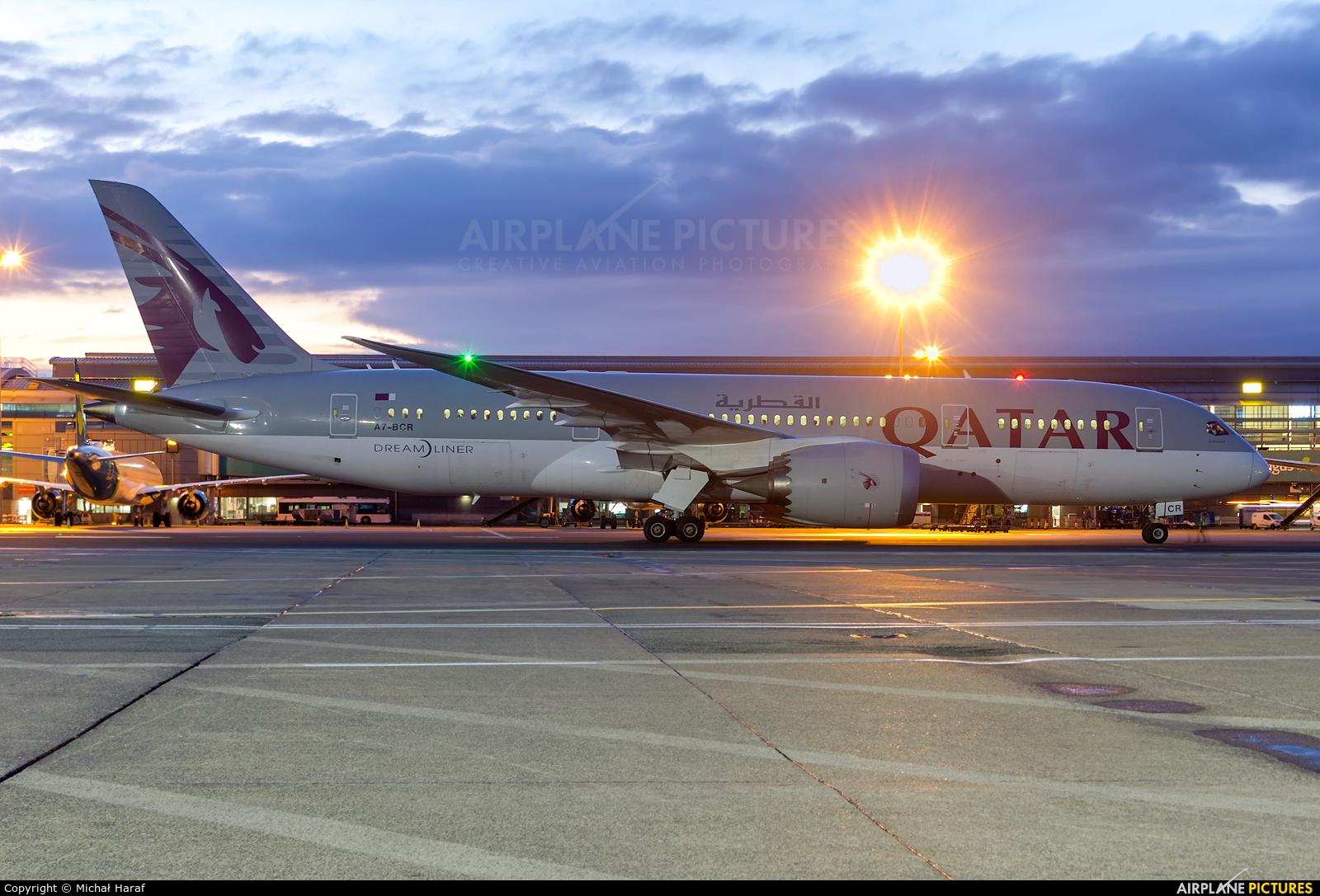 Qatar Airways A7-BCR aircraft at Dublin