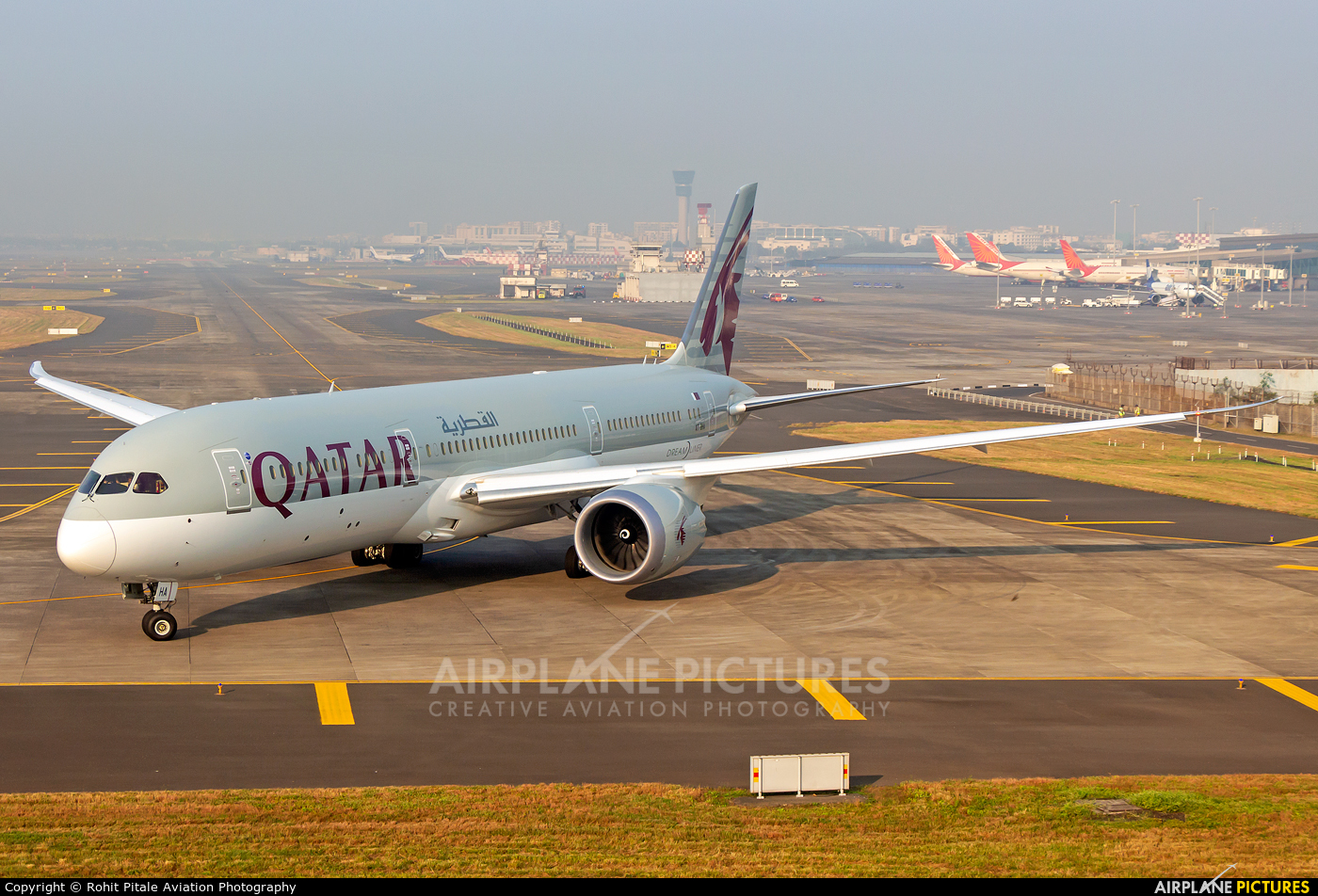 Qatar Airways A7-BHA aircraft at Mumbai - Chhatrapati Shivaji Intl