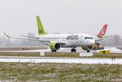 Air Baltic A220 visited Kyiv title=