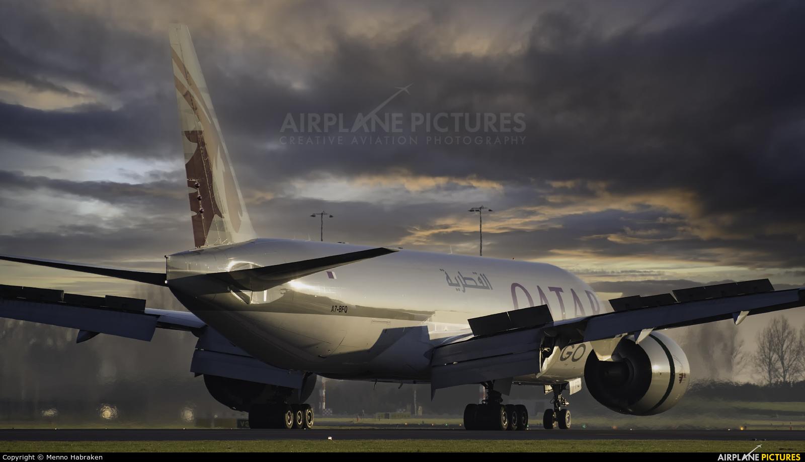 Qatar Airways Cargo A7-BFQ aircraft at Amsterdam - Schiphol