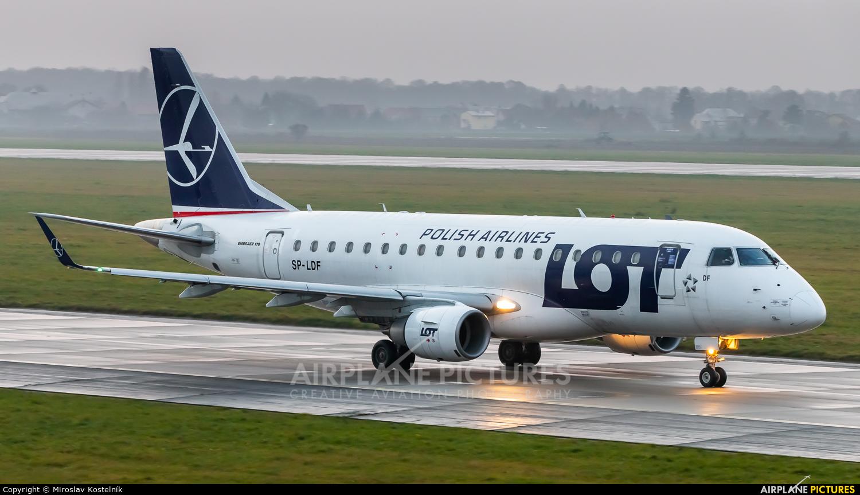 LOT - Polish Airlines SP-LDF aircraft at Ostrava Mošnov