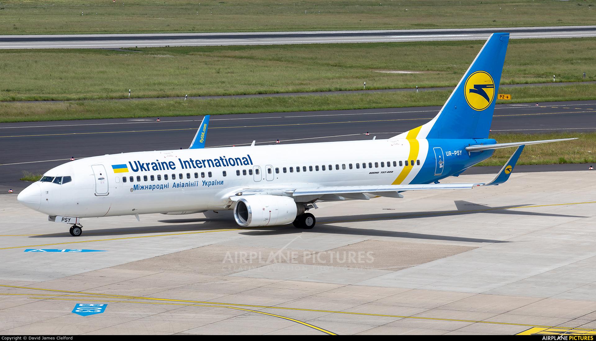 Ukraine International Airlines UR-PSY aircraft at Düsseldorf