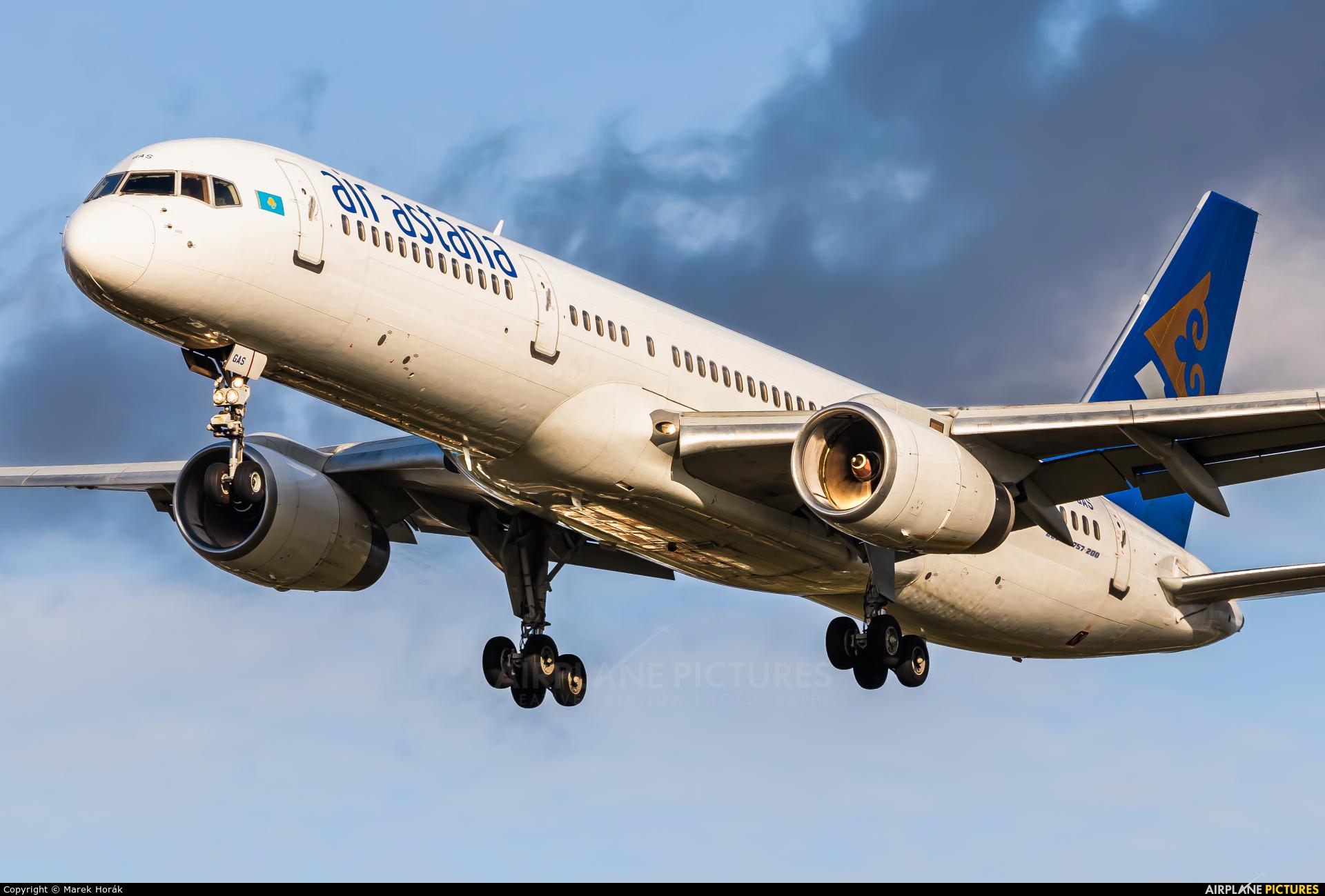 Air Astana P4-GAS aircraft at London - Heathrow