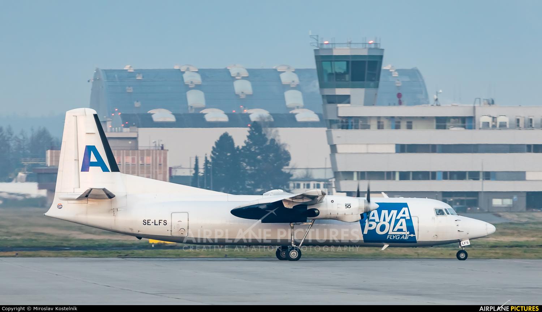 AmaPola Flyg SE-LFS aircraft at Ostrava Mošnov