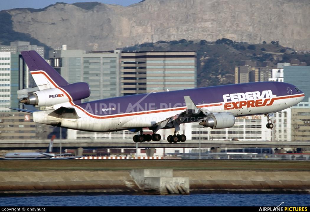 FedEx Federal Express N608FE aircraft at HKG - Kai Tak Intl CLOSED