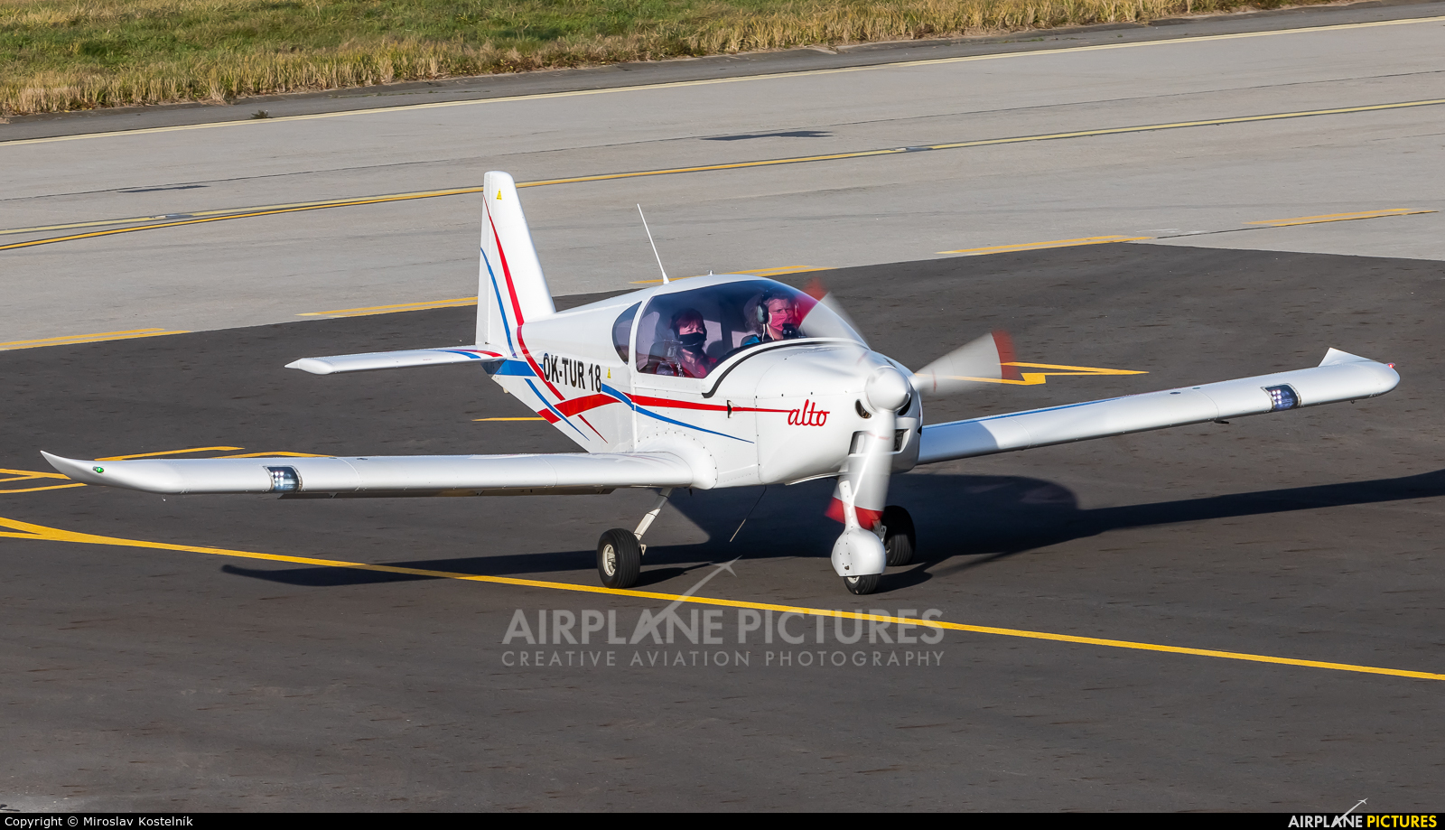 Elmontex Air OK-TUR18 aircraft at Ostrava Mošnov