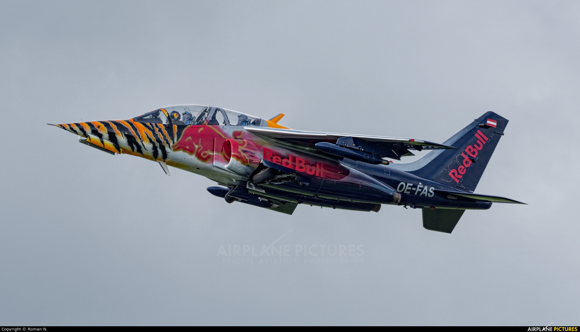 Red Bull OE-FAS aircraft at Zeltweg