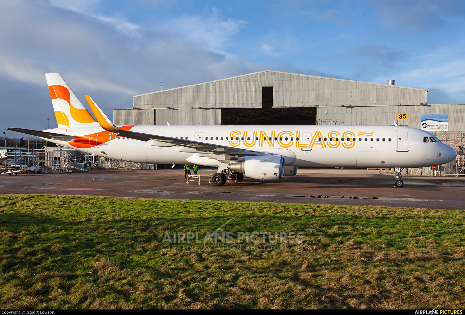 Sunclass Airlines OY-TCF aircraft at East Midlands