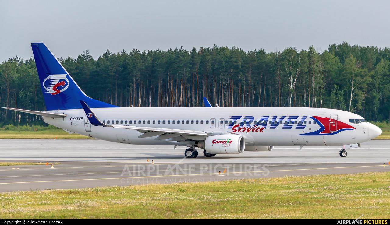 Travel Service OK-TVF aircraft at Katowice - Pyrzowice