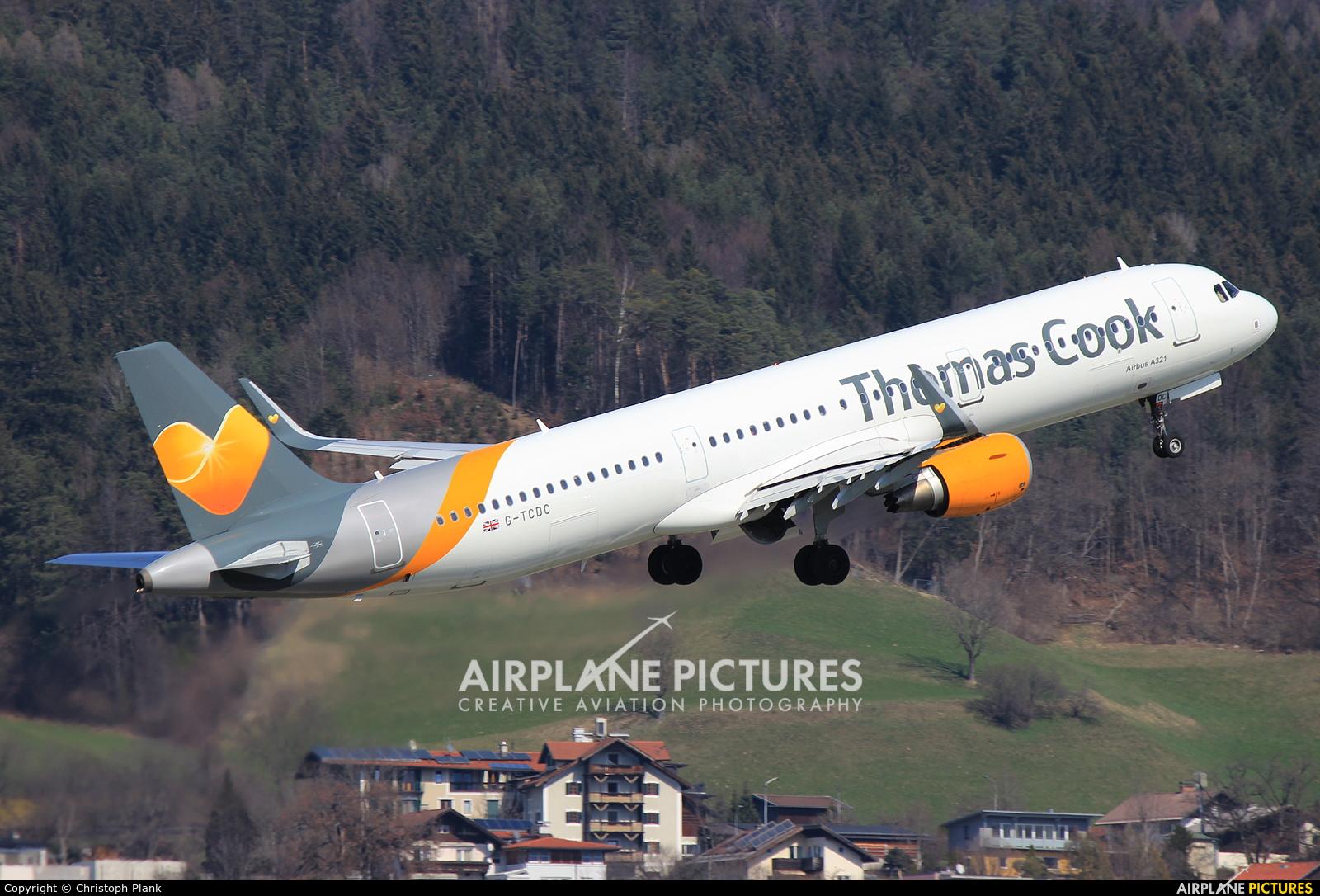 Thomas Cook G-TCDC aircraft at Innsbruck