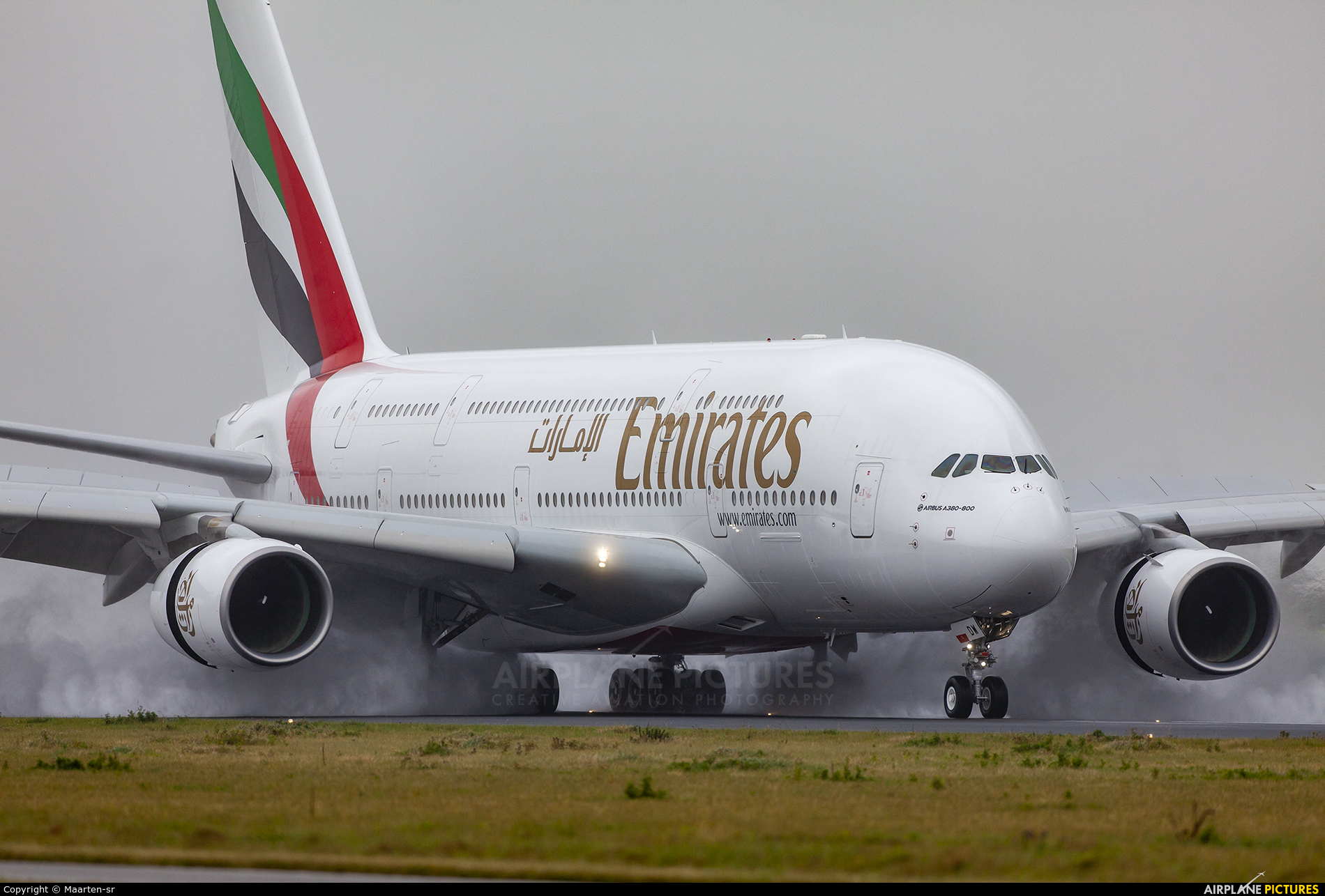 Emirates Airlines A6-EDW aircraft at Amsterdam - Schiphol
