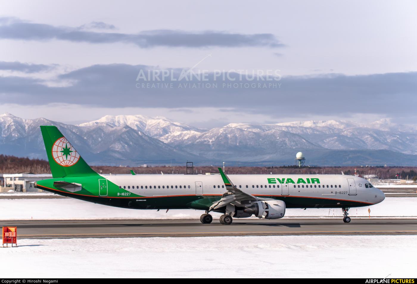Eva Air B-16227 aircraft at New Chitose