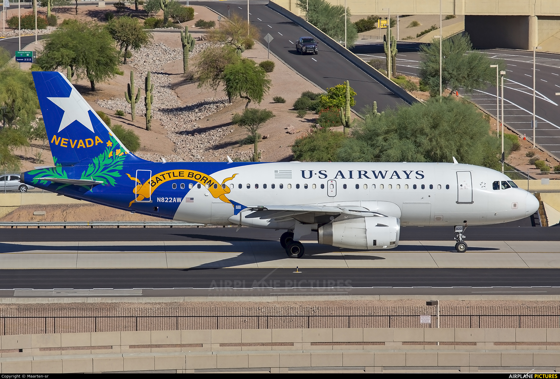 US Airways N822AW aircraft at Phoenix - Sky Harbor Intl