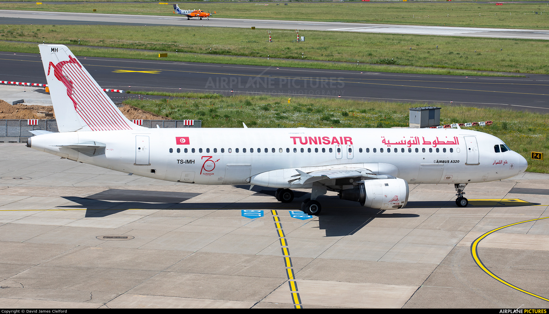 Tunisair TS-IMH aircraft at Düsseldorf