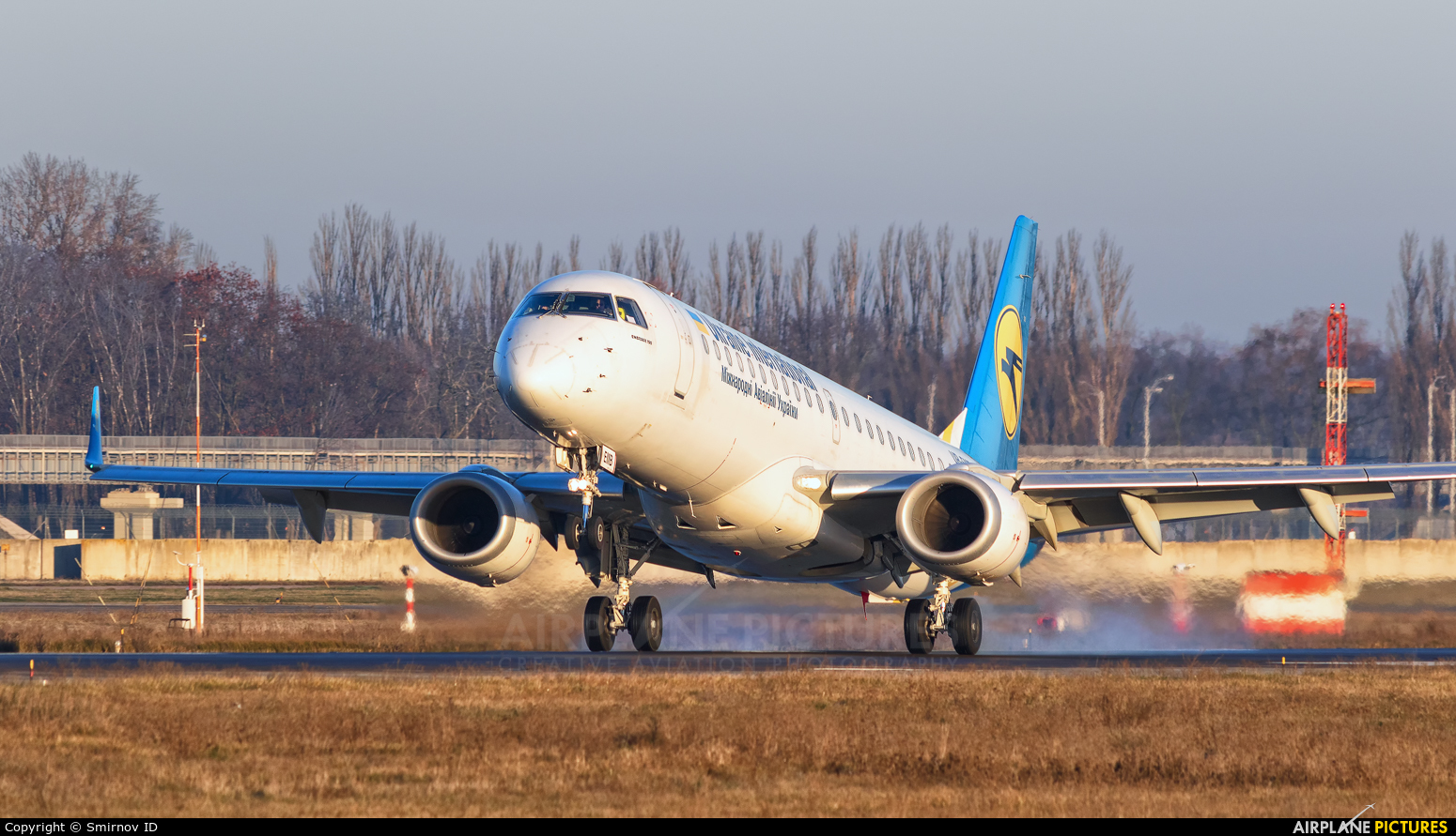 UK International Airlines UR-EMB aircraft at Kyiv - Borispol