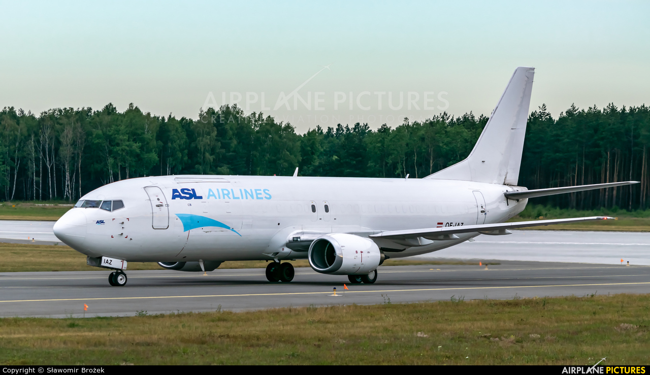ASL Airlines Belgium OE-IAZ aircraft at Katowice - Pyrzowice