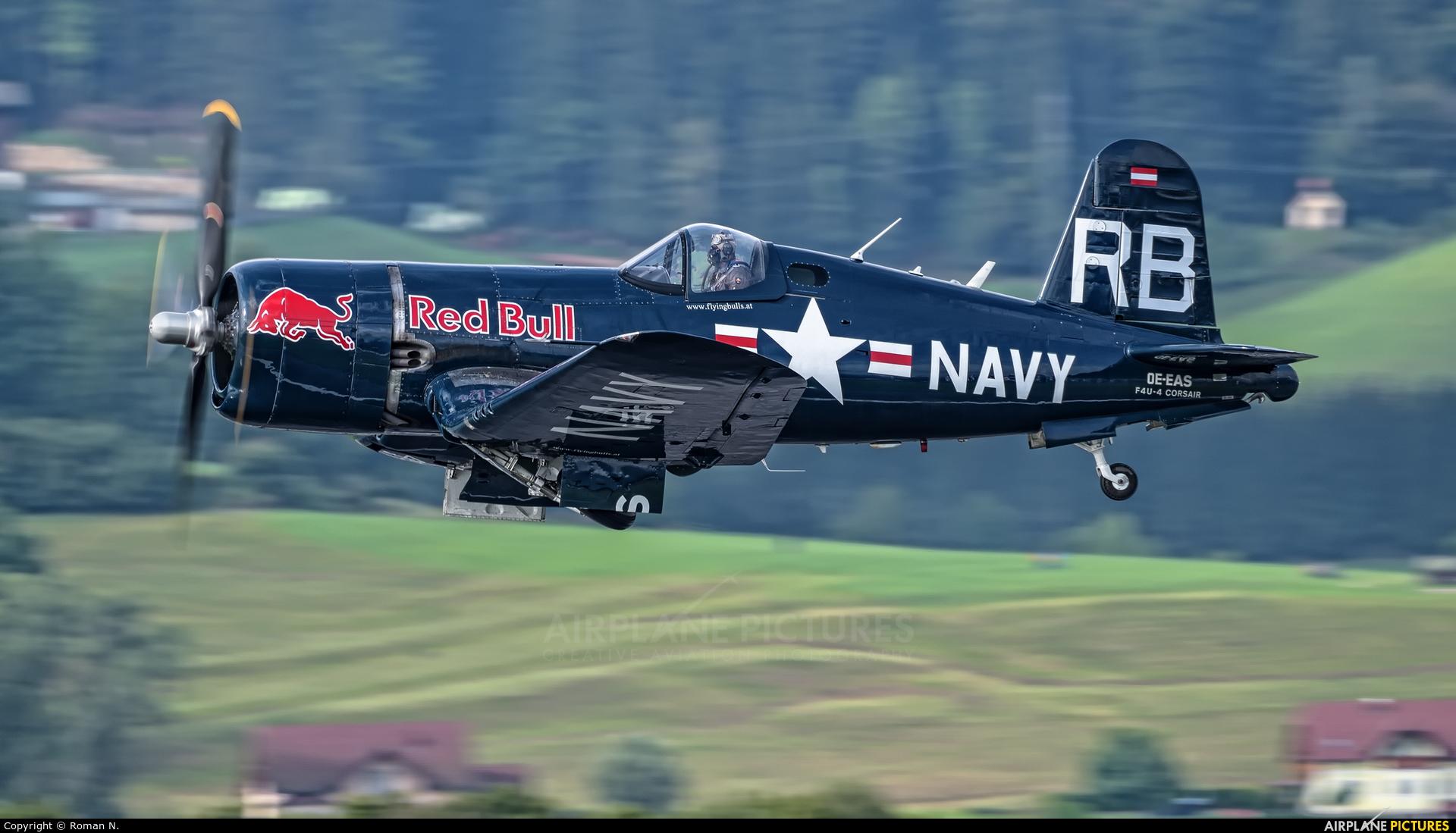 Red Bull OE-EAS aircraft at Zeltweg