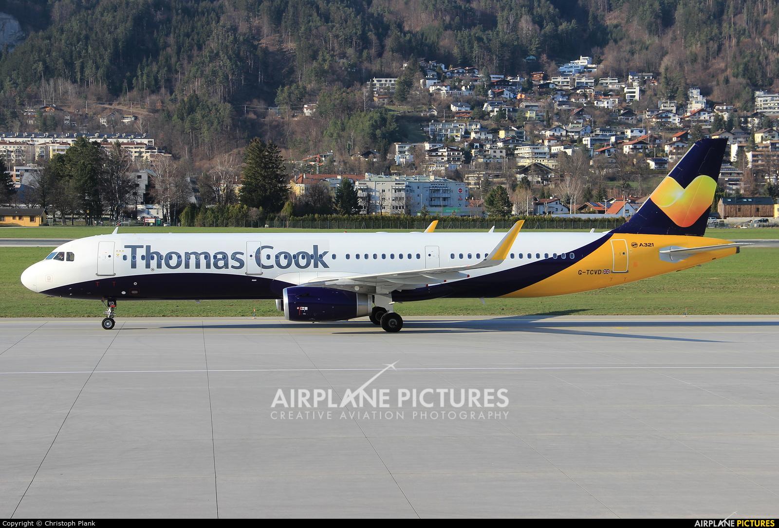 Thomas Cook G-TCVD aircraft at Innsbruck