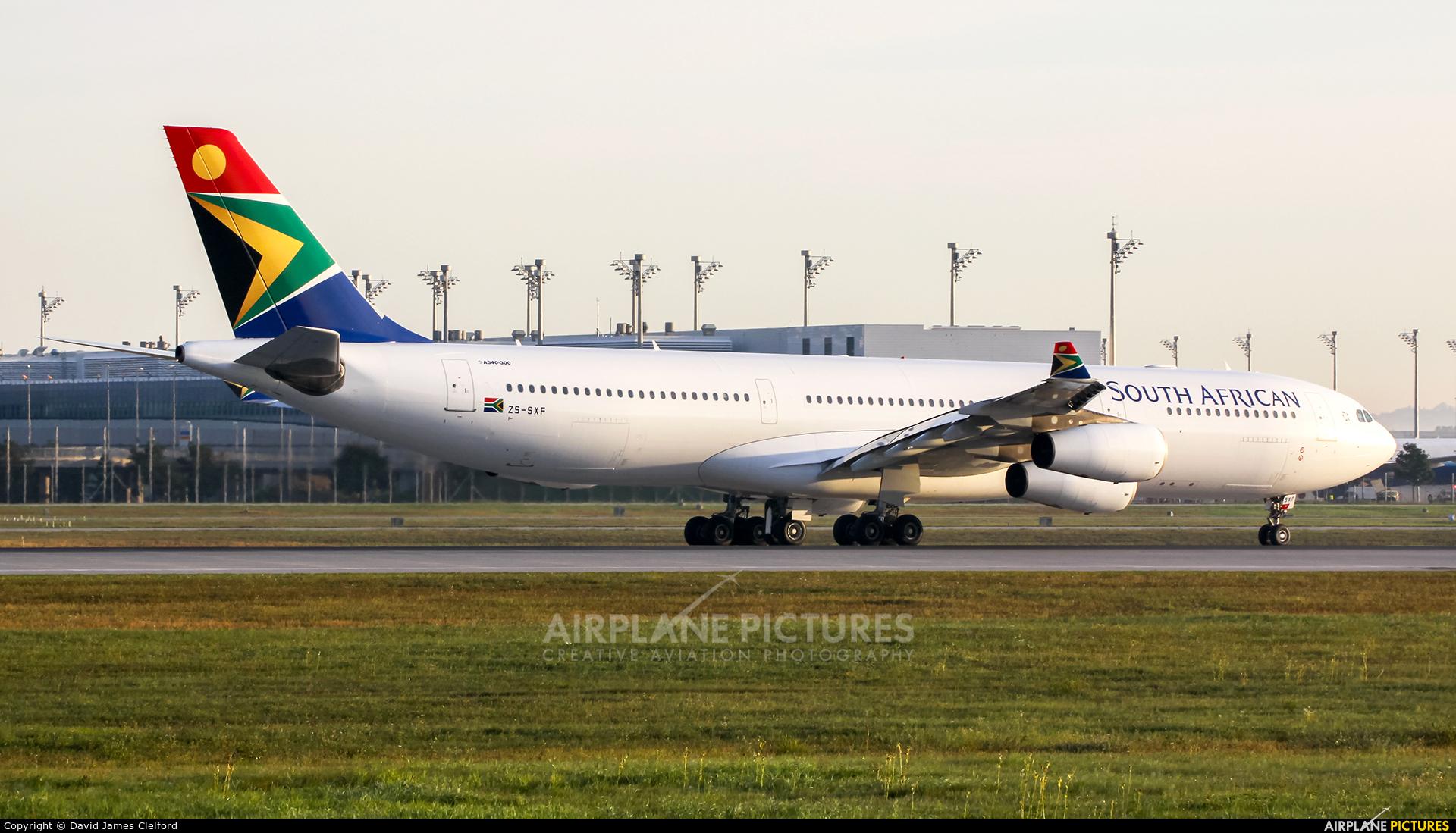 South African Airways ZS-SXF aircraft at Munich