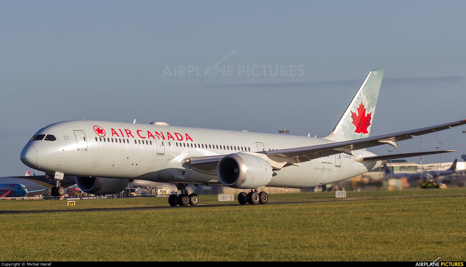 Air Canada C-FPQB aircraft at Dublin