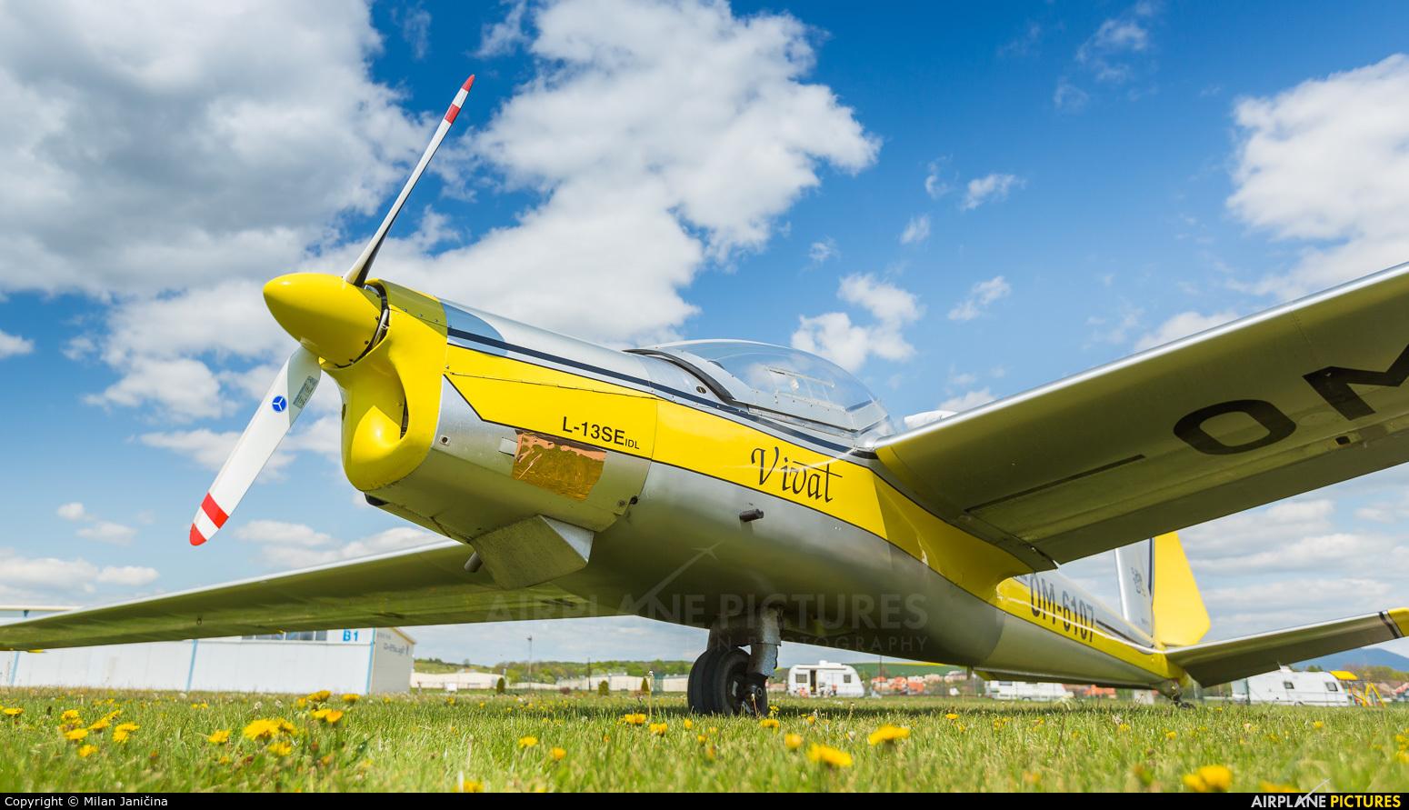 Private OM-6107 aircraft at Partizanske