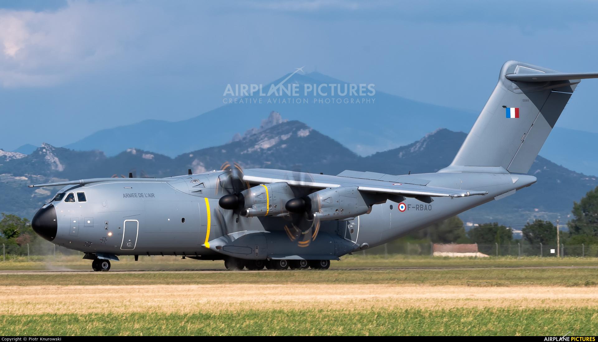 France - Air Force F-RBAO aircraft at Orange - Caritat