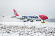 Edelweiss A330 visited Moscow title=