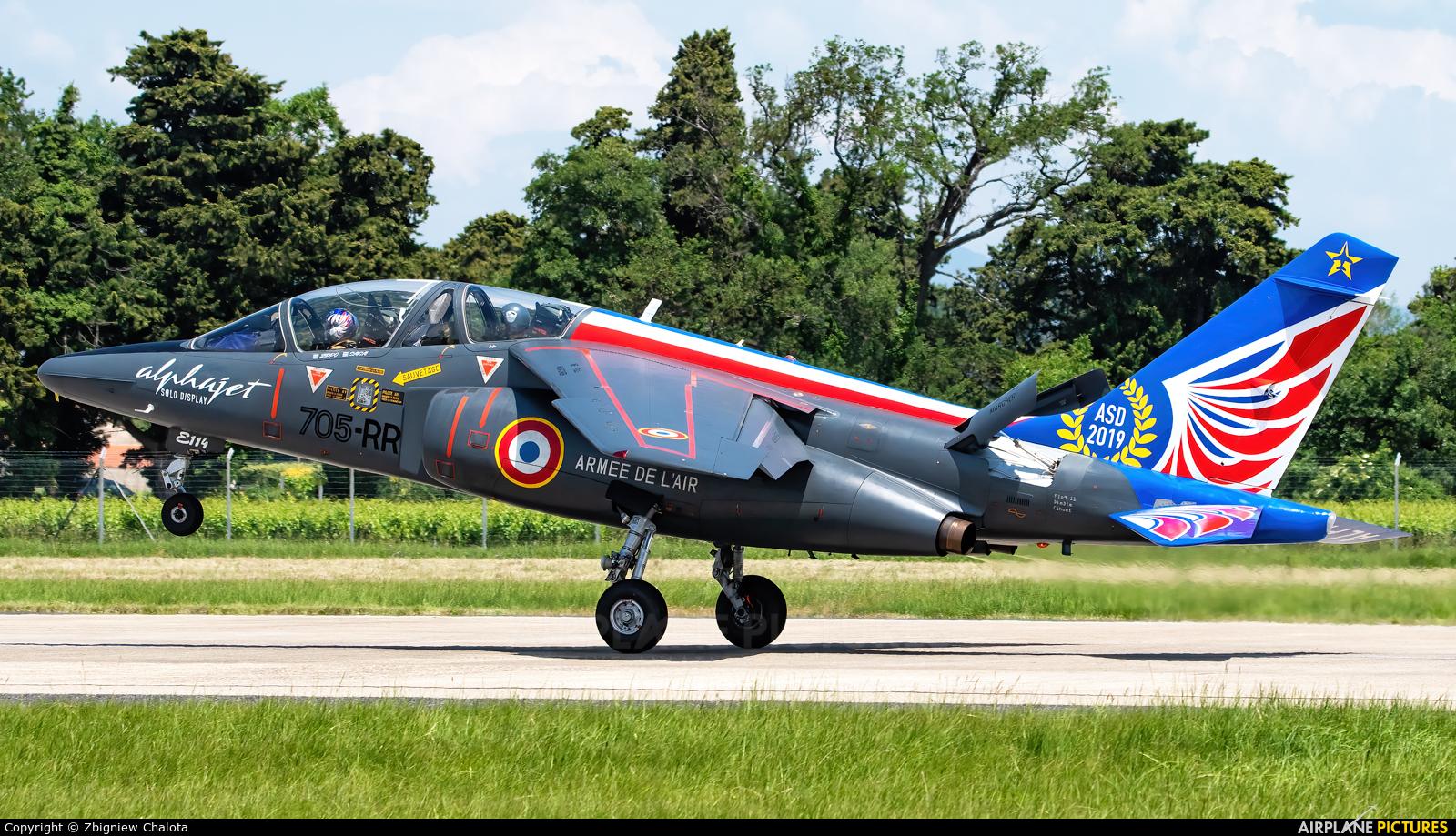 France - Air Force 705-RR aircraft at Orange - Caritat