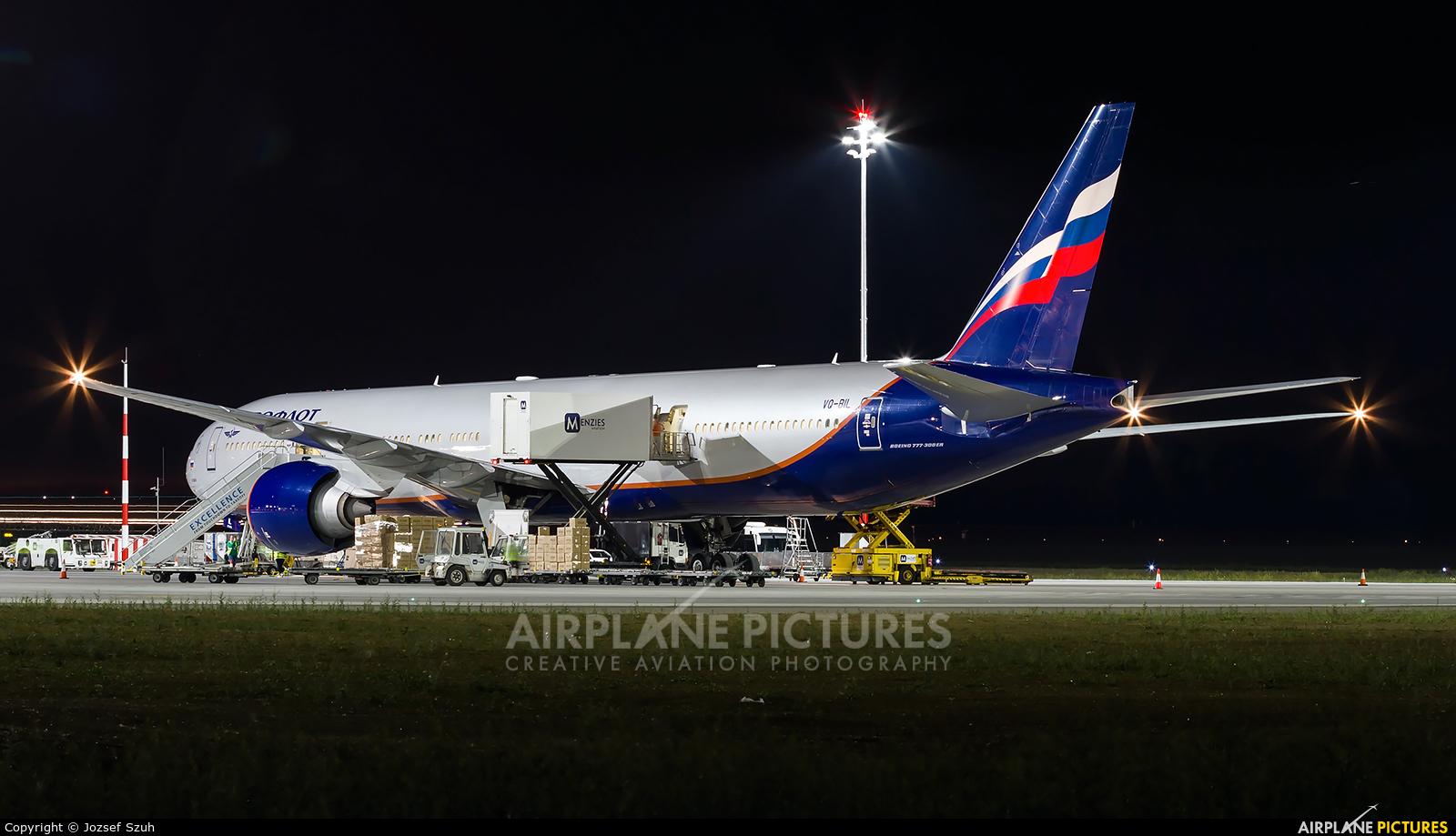 Aeroflot VQ-BIL aircraft at Budapest Ferenc Liszt International Airport