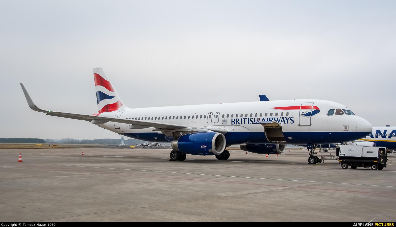 British Airways G-EUYS aircraft at Katowice - Pyrzowice