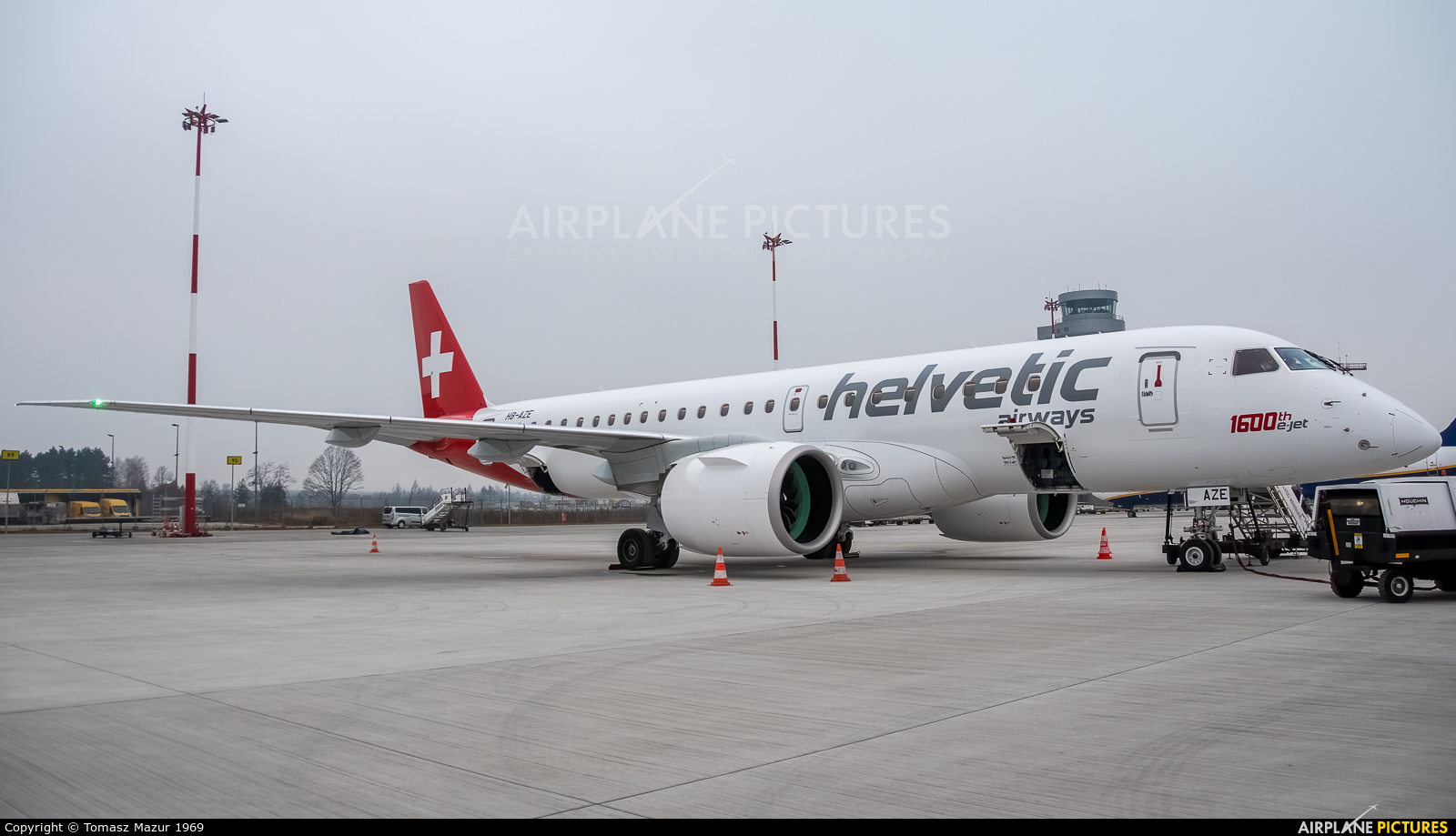 Helvetic Airways HB-AZE aircraft at Katowice - Pyrzowice