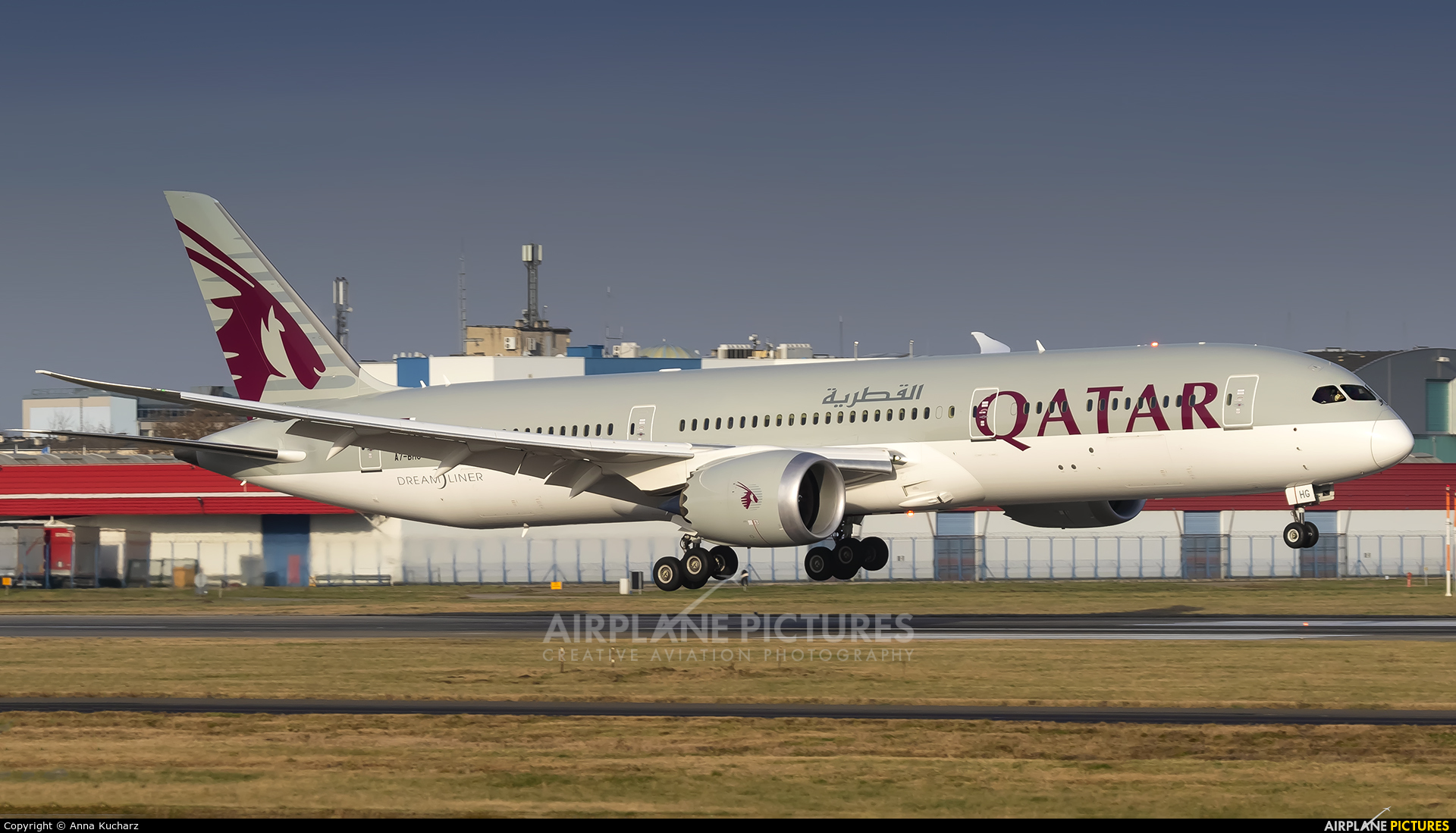 Qatar Airways A7-BHG aircraft at Warsaw - Frederic Chopin