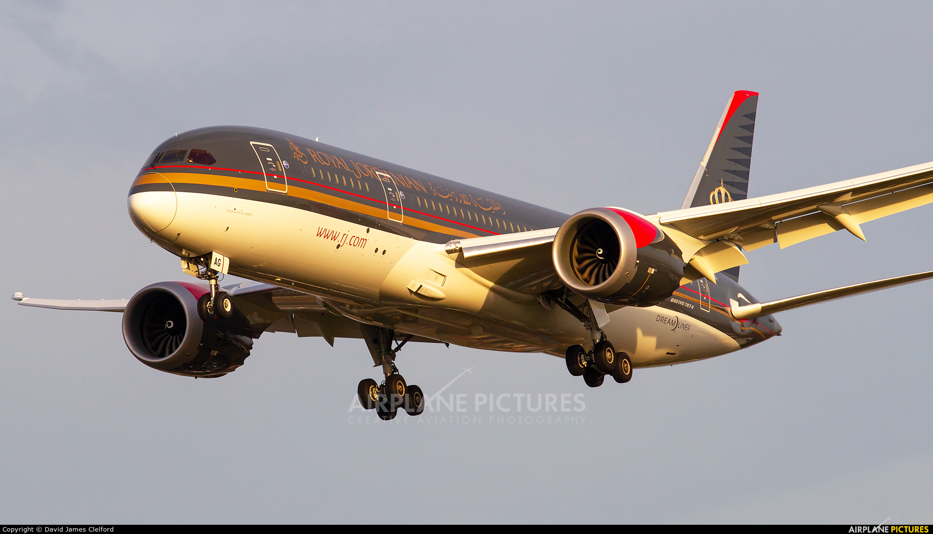 Royal Jordanian JY-BAG aircraft at London - Heathrow