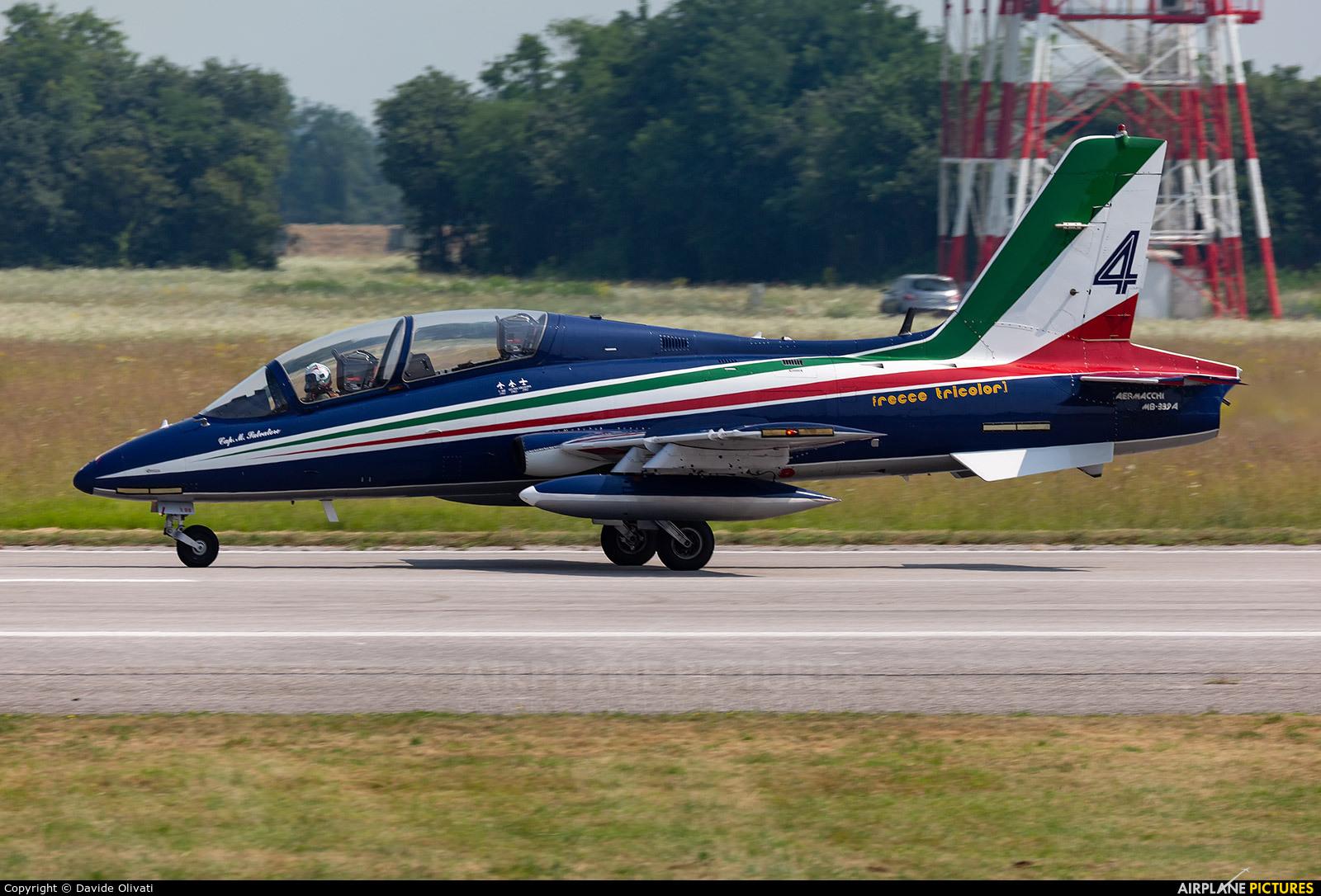 "Italy - Air Force ""Frecce Tricolori"" MM54500 aircraft at Rivolto"