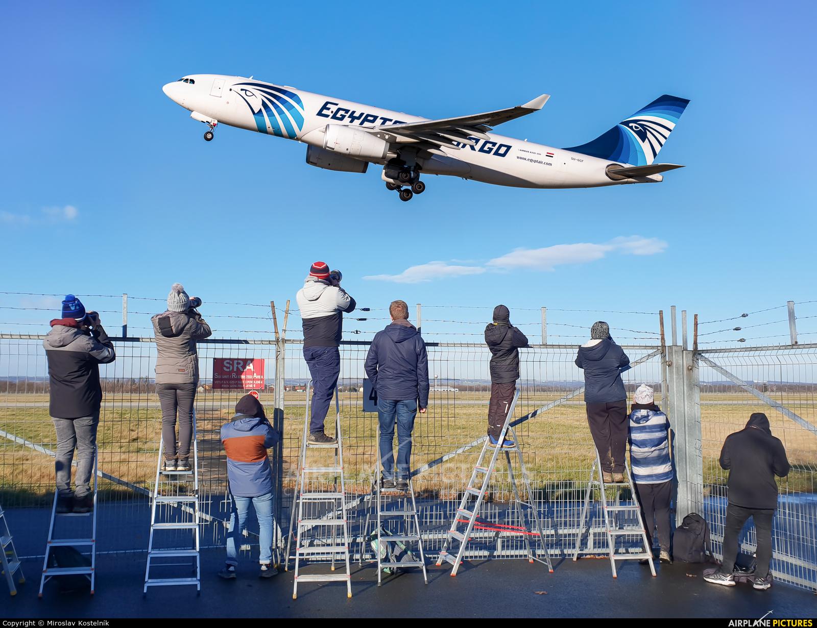 Egyptair Cargo SU-GCF aircraft at Ostrava Mošnov