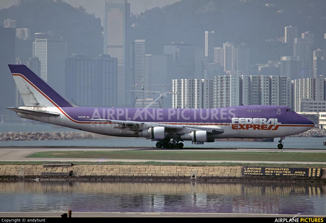 FedEx Federal Express N631FE aircraft at HKG - Kai Tak Intl CLOSED