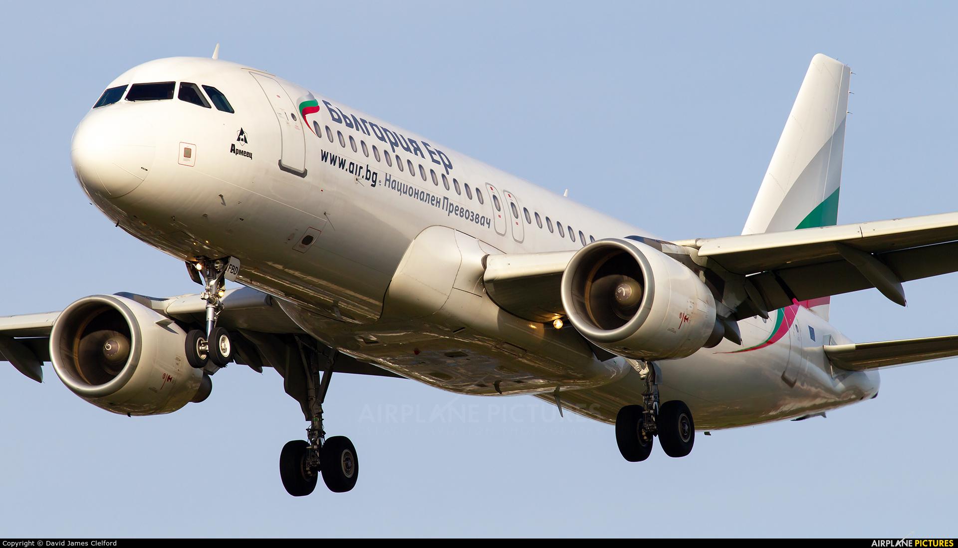 Bulgaria Air LZ-FBD aircraft at London - Heathrow