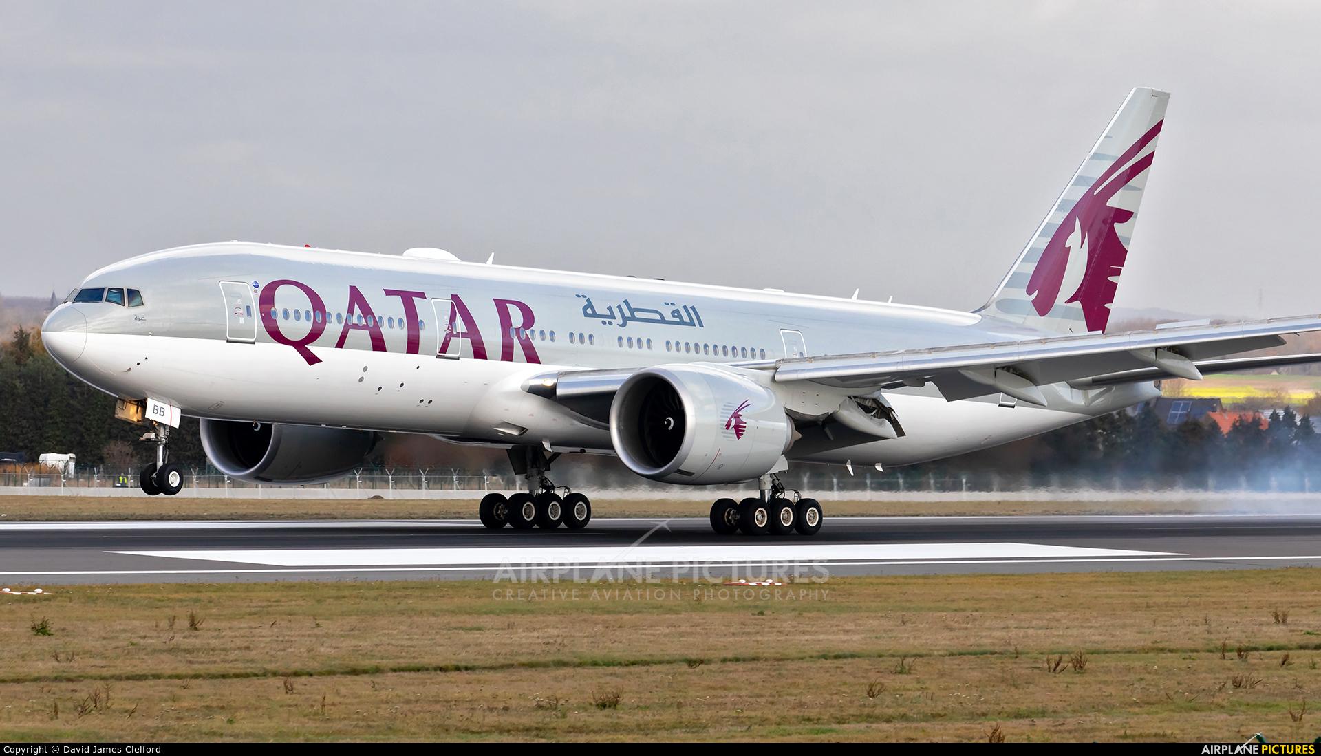 Qatar Airways A7-BBB aircraft at Brussels - Zaventem