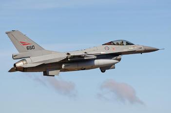 660 - Norway - Royal Norwegian Air Force Lockheed Martin F-16AM Fighting Falcon