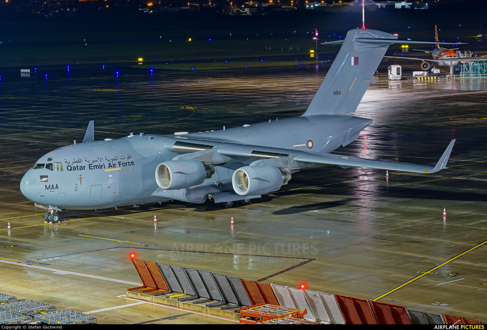 Qatar Amiri - Air Force A7-MAA aircraft at Basel - Mulhouse- Euro