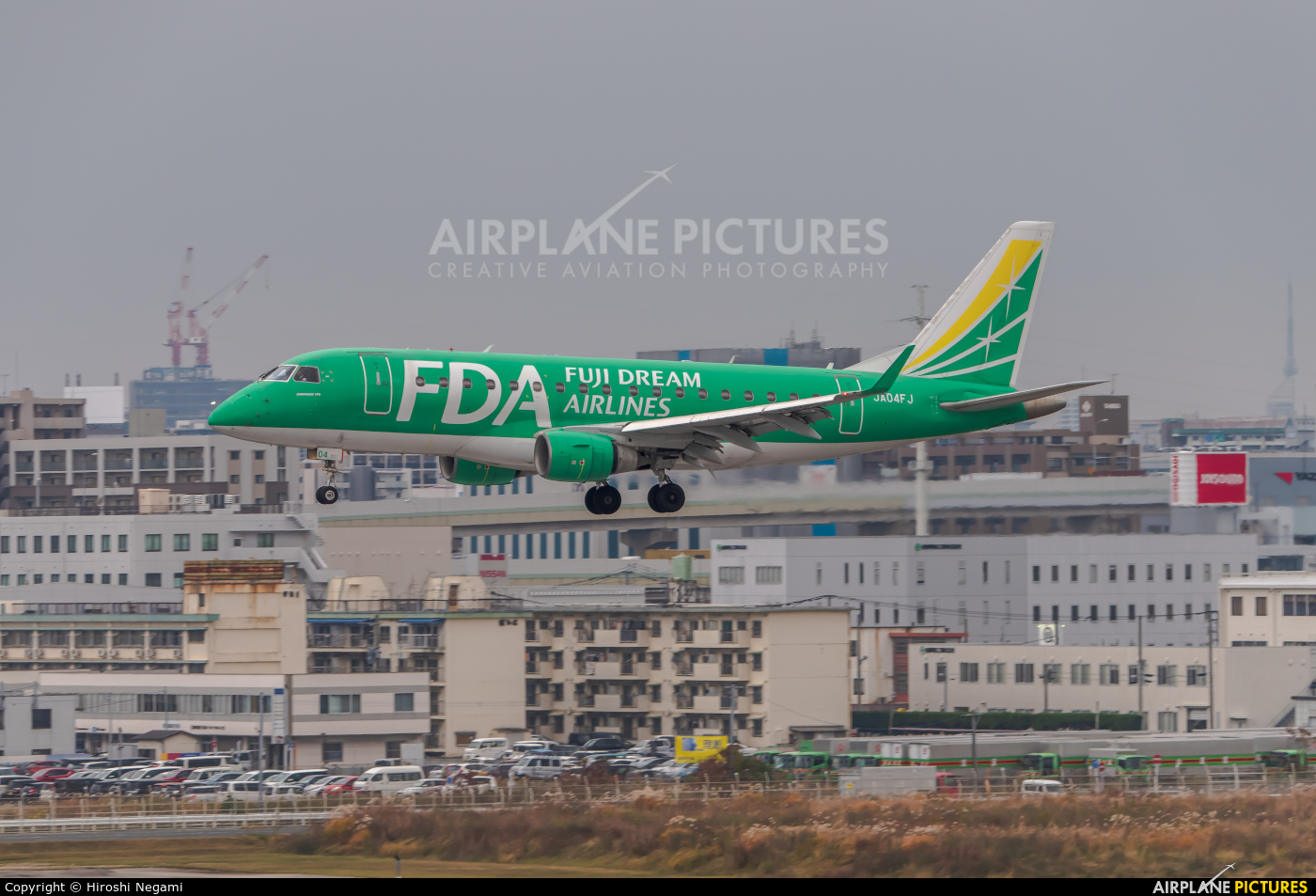 Fuji Dream Airlines JA04FJ aircraft at Fukuoka